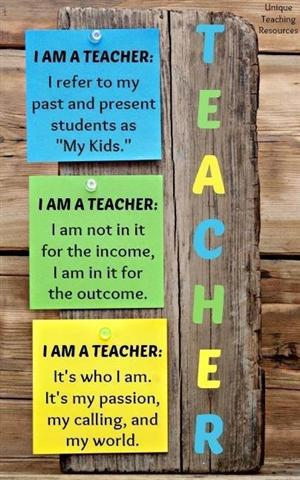 I am a teacher...