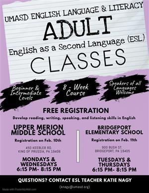 Adult ESL Classes Spring English