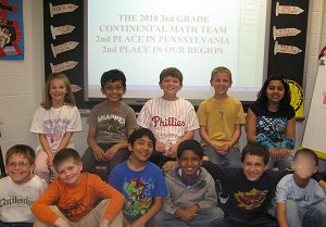 Third Grade Math League Team