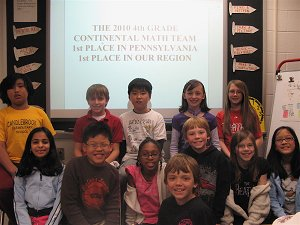 4th Grade Math League Team